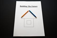 μέλλον οικοδόμησης Στοκ Φωτογραφία