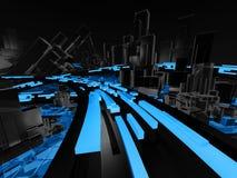 μέλλον πόλεων διανυσματική απεικόνιση