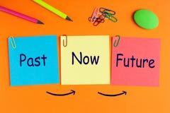 μέλλον τώρα από μπροστά στοκ εικόνες