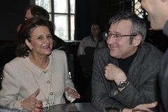 Μέλος FDP του Κοινοβουλίου Doris Fiala και Ανδρέας Tuerler, FO στοκ φωτογραφία