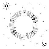 Μέρα και νύχτα στη μουσική Στοκ Εικόνες