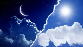 Μέρα και νύχτα Στοκ εικόνες με δικαίωμα ελεύθερης χρήσης