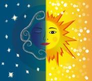 Μέρα και νύχτα. Στοκ φωτογραφία με δικαίωμα ελεύθερης χρήσης