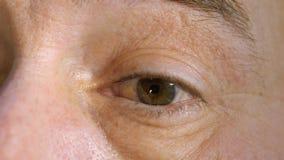 Μέρη ανθρώπινου σώματος Ανθρώπινη κινηματογράφηση σε πρώτο πλάνο ματιών φιλμ μικρού μήκους