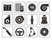 μέρη αυτοκινήτων διανυσματική απεικόνιση