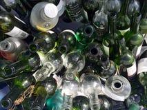 Μέρη μπουκαλιών και μέρη του γυαλιού Στοκ εικόνες με δικαίωμα ελεύθερης χρήσης