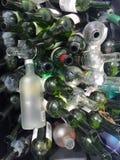 Μέρη μπουκαλιών και μέρη του γυαλιού Στοκ φωτογραφίες με δικαίωμα ελεύθερης χρήσης
