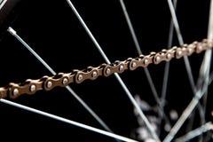 Μέρη ποδηλάτων που απομονώνονται στο Μαύρο στοκ φωτογραφία με δικαίωμα ελεύθερης χρήσης