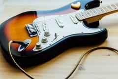Μέρη της ηλεκτρικής κιθάρας Στοκ εικόνες με δικαίωμα ελεύθερης χρήσης