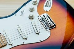 Μέρη της ηλεκτρικής κιθάρας Στοκ εικόνα με δικαίωμα ελεύθερης χρήσης