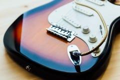 Μέρη της ηλεκτρικής κιθάρας Στοκ φωτογραφία με δικαίωμα ελεύθερης χρήσης