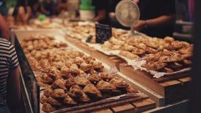 Μέρη του αρτοποιείου στην επίδειξη απόθεμα βίντεο