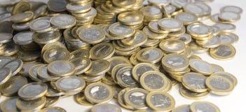Μέρη των ευρο- νομισμάτων Στοκ Φωτογραφίες