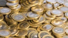 Μέρη των ευρο- νομισμάτων Στοκ εικόνα με δικαίωμα ελεύθερης χρήσης