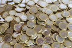 Μέρη των ευρο- νομισμάτων Στοκ Εικόνες