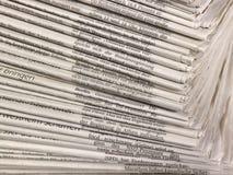 Μέρη των εφημερίδων Στοκ Φωτογραφία