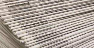 Μέρη των εφημερίδων Στοκ εικόνα με δικαίωμα ελεύθερης χρήσης