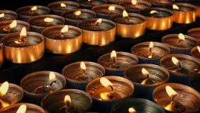 Μέρη των κεριών που εκρήγνυνται απόθεμα βίντεο
