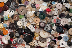 Μέρη των κουμπιών διεσπαρμένα Στοκ εικόνες με δικαίωμα ελεύθερης χρήσης