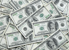 Μέρη των λογαριασμών δολαρίων στοκ φωτογραφία με δικαίωμα ελεύθερης χρήσης