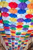 Μέρη των ομπρελών που χρωματίζουν τον ουρανό Στοκ Εικόνες