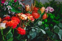 Μέρη των λουλουδιών σε ένα ανθοπωλείο Στοκ Εικόνες