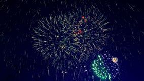 Μέρη των πυροτεχνημάτων σε έναν εορτασμό φιλμ μικρού μήκους