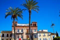 Μέριντα στην Ισπανία Plaza de Espana τετραγωνικό Badajoz Στοκ Φωτογραφίες