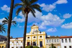 Μέριντα στην Ισπανία Plaza de Espana τετραγωνικό Badajoz Στοκ φωτογραφία με δικαίωμα ελεύθερης χρήσης