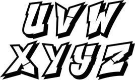 Μέρος 3 αλφάβητου γκράφιτι Στοκ φωτογραφίες με δικαίωμα ελεύθερης χρήσης