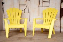 μέρος δύο εδρών κίτρινο Στοκ φωτογραφία με δικαίωμα ελεύθερης χρήσης