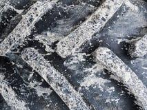 Μέρος ενός ελαστικού αυτοκινήτου τρακτέρ με τη λάσπη Στοκ Εικόνες