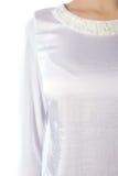 Μέρος θηλυκών του odezhy, των ώμων και των μανικιών στοκ φωτογραφία με δικαίωμα ελεύθερης χρήσης