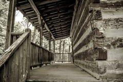 Μέρος καμπινών κούτσουρων Στοκ φωτογραφία με δικαίωμα ελεύθερης χρήσης