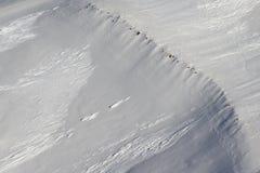 Μέρος μιας χιονώδους εναέριας φωτογραφίας βουνών χωρίς τους ανθρώπους και ουρανό Στοκ εικόνες με δικαίωμα ελεύθερης χρήσης