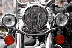μέρος μοτοσικλετών μοτοσικλετών προβολέων λεπτομέρειας υπαίθρια Στοκ φωτογραφία με δικαίωμα ελεύθερης χρήσης