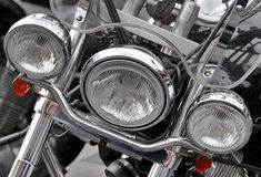 μέρος μοτοσικλετών μοτοσικλετών προβολέων λεπτομέρειας υπαίθρια Στοκ εικόνα με δικαίωμα ελεύθερης χρήσης