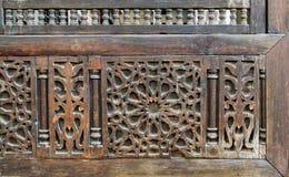 Μέρος ξύλινα διακοσμήσεις & x28 Arabisk& x29  πρόσοψη, Κάιρο Στοκ Εικόνα