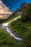 Μέρος περασμάτων μηχανικών του αλπικού πνεύματος ποταμών του Κολοράντο Uncompahgre βρόχων Στοκ φωτογραφία με δικαίωμα ελεύθερης χρήσης