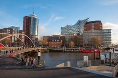 Μέρος πόλεων Hafencity στο Αμβούργο Γερμανία Στοκ φωτογραφία με δικαίωμα ελεύθερης χρήσης