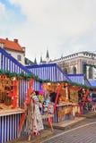 Μέρος της αγοράς Χριστουγέννων στην πλατεία Livu στη Ρήγα Στοκ Εικόνα