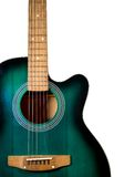 Μέρος της ακουστικής κιθάρας, σε ένα λευκό Στοκ Εικόνες