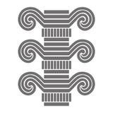Μέρος της αρχιτεκτονικής στήλης μονοχρωματικός διανυσματική απεικόνιση