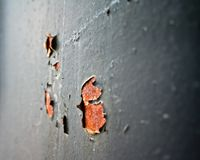 Μέρος της γκρίζας οξύδωσης μετάλλων Στοκ Φωτογραφίες