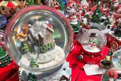 Μέρος του δώρου Χριστουγέννων για την πώληση στο φεστιβάλ Χριστουγέννων Στοκ εικόνα με δικαίωμα ελεύθερης χρήσης