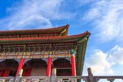 Μέρος του κινεζικού κτηρίου ναών Στοκ Εικόνες