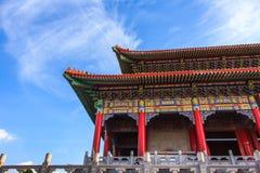 Μέρος του κινεζικού κτηρίου ναών Στοκ Φωτογραφία