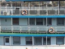 Μέρος του κρουαζιερόπλοιου Σκηνικό υποβάθρου ζωής πολυτέλειας Στοκ Φωτογραφία