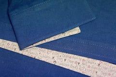 Μέρος του μπλε πουκάμισου λινού μανικιών Στοκ Εικόνες