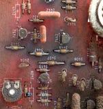 Μέρος του παλαιού τυπωμένου τρύγος πίνακα κυκλωμάτων Στοκ φωτογραφία με δικαίωμα ελεύθερης χρήσης